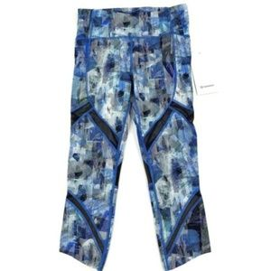 Lululemon On Pace Crop Tights Yoga Pant Blue Sz 6